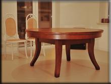Stół okrągły rozkładany Dionizos 1,5 metra średnica, po rozłożeniu 4,5 metra