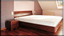 Łóżko Virginia 180x200 zestolikami Mare, buk na orzech jasny. Łódź