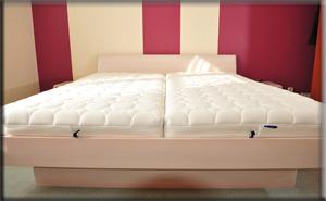 Łóżko zpojemnikiem na pościel Alabama - buk bielony. Berlin marzec 2012