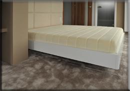 Białe łóżko Bianco bez oparcia
