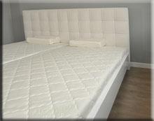 Łóżko Bianco Terra - biały wysoki połysk