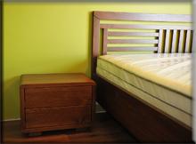 Łóżko dębowe zpojemnikiem na pościel - Gdańsk