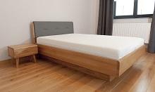 Łóżko Milano wskórze naturalnej istolikiem KALISZ