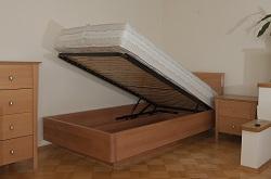 Łóżko Verona pojedyncze zpojemnikiem na pościel WARSZAWA
